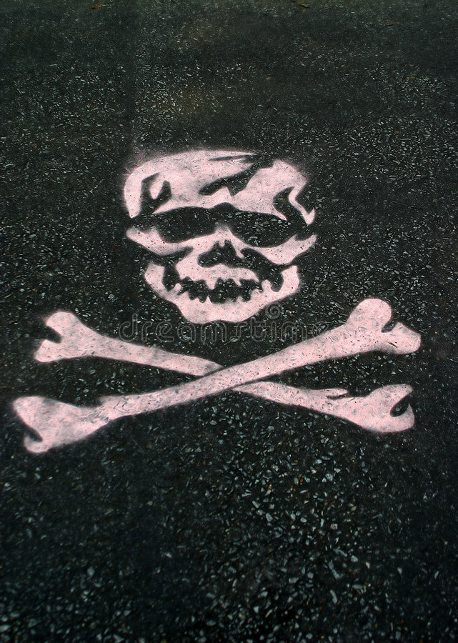 Stenciled Skull royalty free illustration