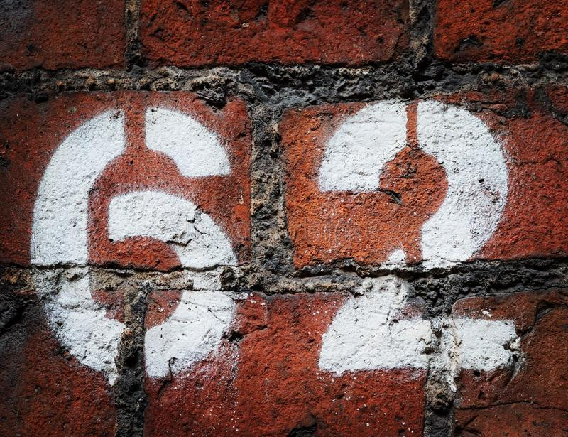 Stencilled numbers stock image