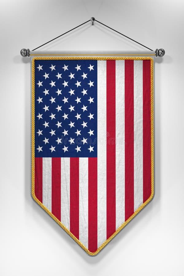 Stendardo della bandiera di U.S.A. royalty illustrazione gratis