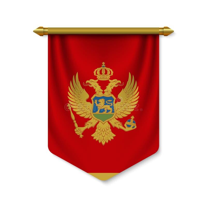 stendardo realistico 3d con la bandiera royalty illustrazione gratis