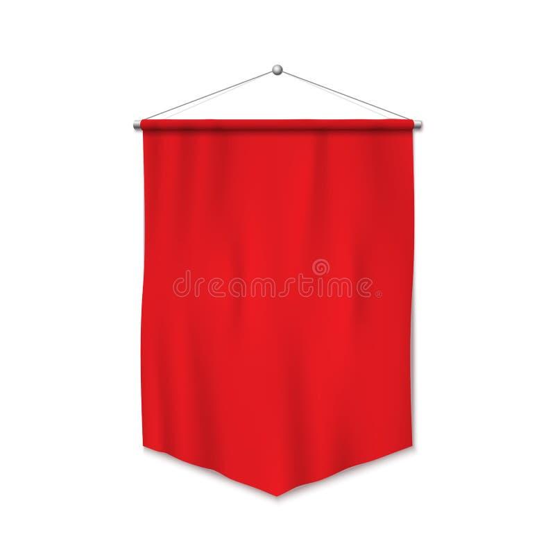 Stendardo rosso illustrazione di stock