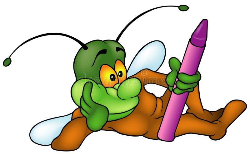 Stenditura del pittore dell'insetto royalty illustrazione gratis