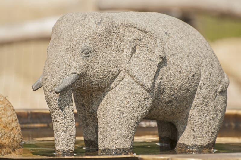 Stenelefant royaltyfri fotografi