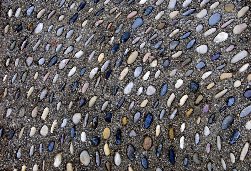 Stenen in Bestrating royalty-vrije stock afbeelding