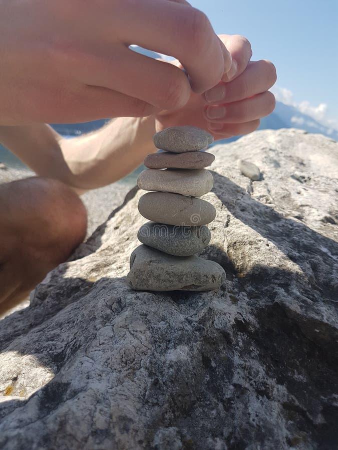 Stenen bij het Meer stock foto