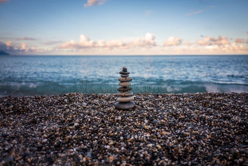 Stenen bij Hualien-Strand in Taiwan royalty-vrije stock foto's