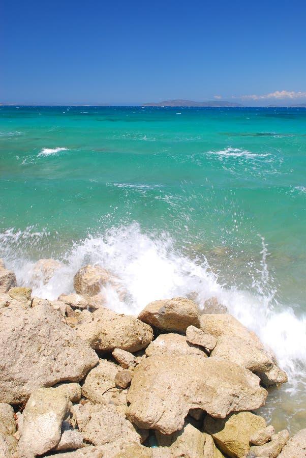 Stenen bij shore2 royalty-vrije stock fotografie