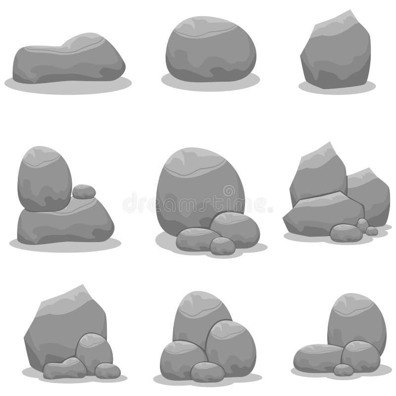 Stenen geplaatst element vectorart. stock illustratie