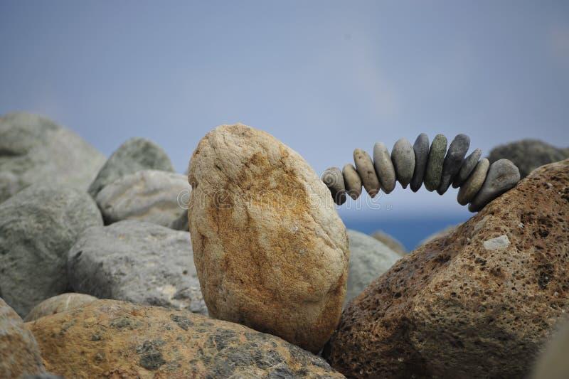 Stenen het in evenwicht brengen stock afbeelding