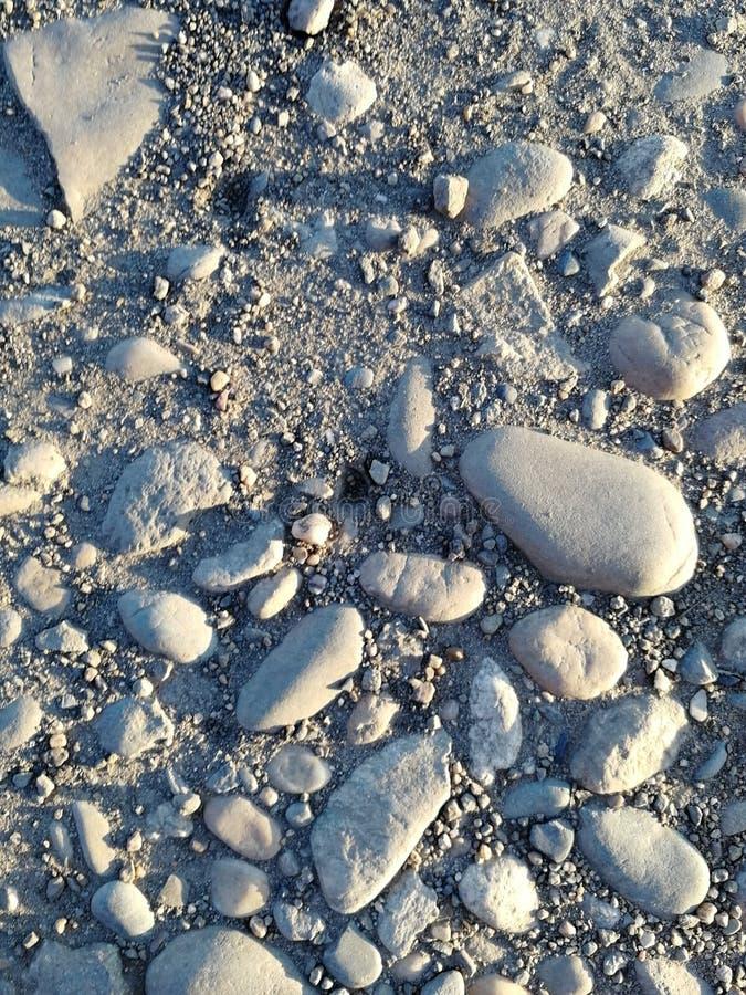 Stenen op de weg royalty-vrije stock fotografie