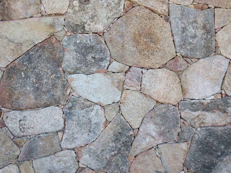 Stenen op een muur stock afbeelding