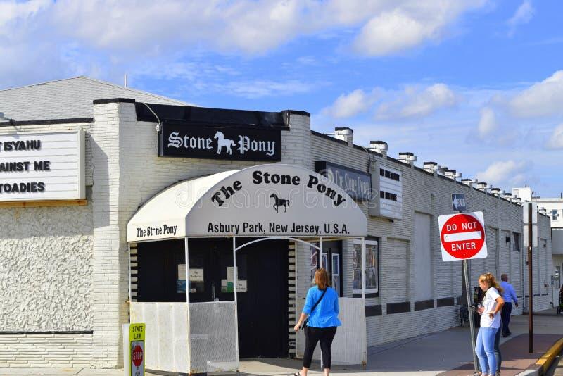 Stenen Pony Bar, var Bruce Springsteen lanserade karriär fotografering för bildbyråer