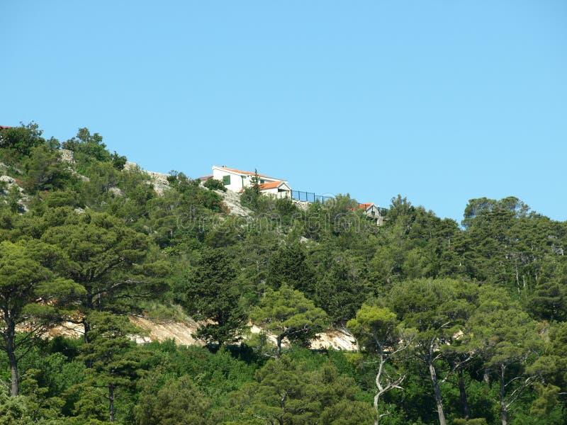Stenen väggen, sten, ser, från, fortet, novigrad som är zadar royaltyfria foton