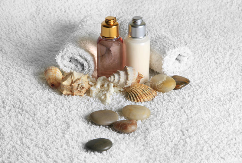 Stenen voor massage stock afbeeldingen