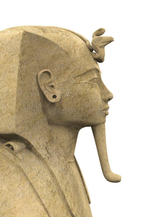 Stenfarao Tutankhamen stock illustrationer