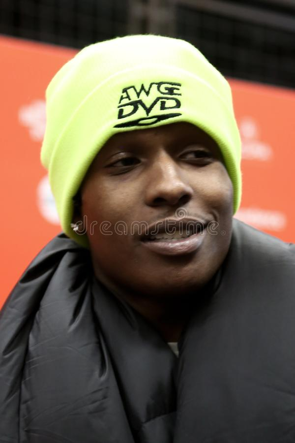 Stenig A$AP royaltyfri bild