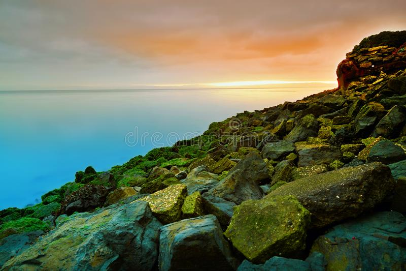 Stenig strand, San Francisco Bay fotografering för bildbyråer