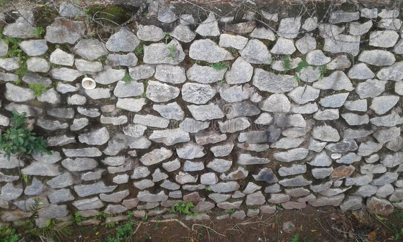 Steniga och stenväggar arkivbilder