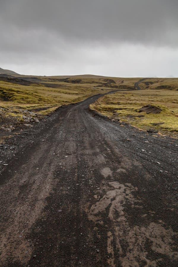 Stenigt stenigt ?kenlandskap av Island royaltyfri bild