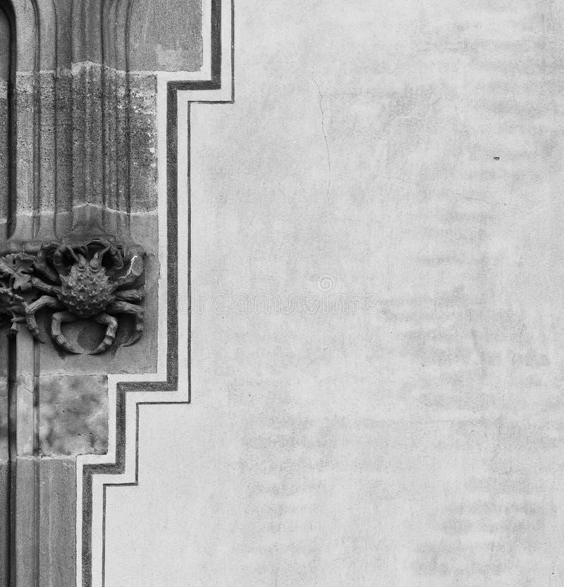 Stenkrabba som står vid dörren arkivfoton