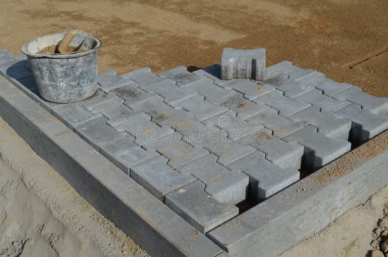 Stenlägga på en konstruktionsplats royaltyfri bild