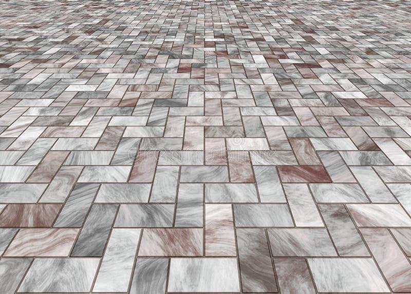 stenlade tegelplattor för golv marmor royaltyfri illustrationer