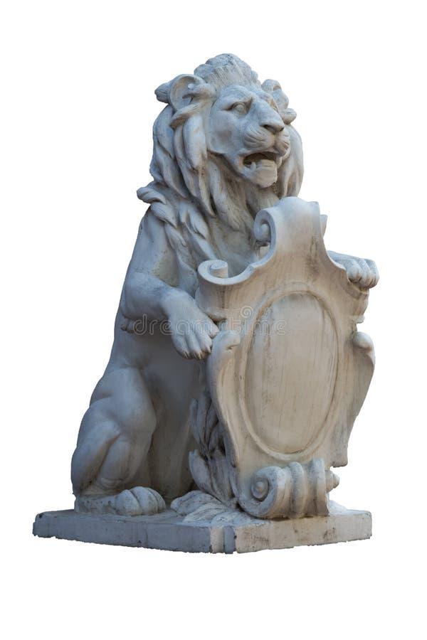Stenlejon - symbol av makt royaltyfri bild