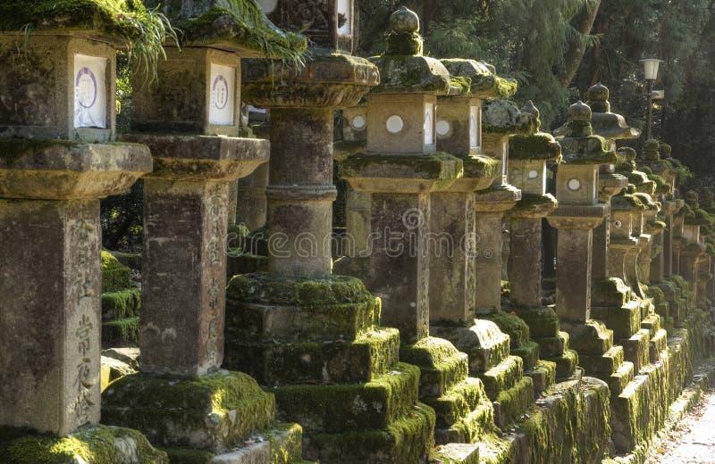 Stenlyktor, Nara, Japan fotografering för bildbyråer