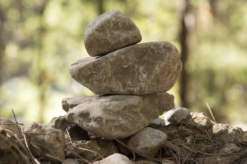 Stenmän i Samaria Gorge på Kretaön arkivfoto