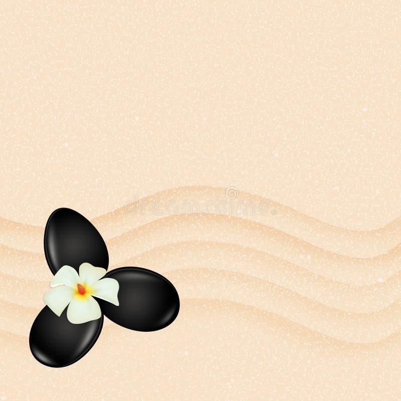 Stenmassage på sand vektor illustrationer