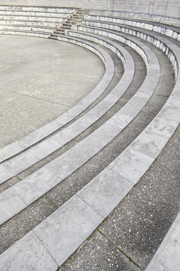 Stenmoment i en amfiteater fotografering för bildbyråer