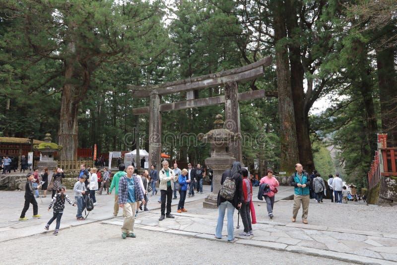 Stenmoment till gravvalvet av Tokugawa Ieyasu fotografering för bildbyråer