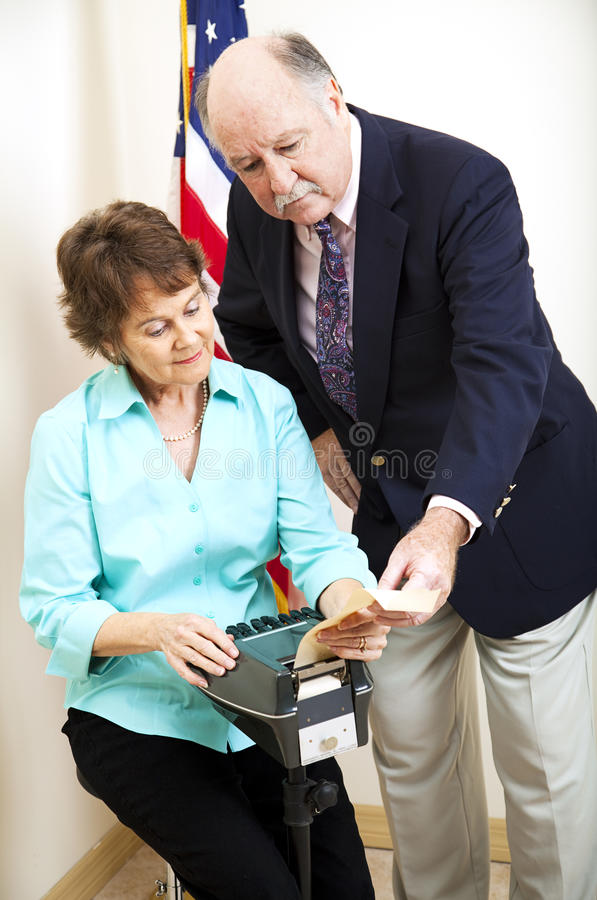 Download Stenographer and Attorney stock photo. Image of mature - 18261498