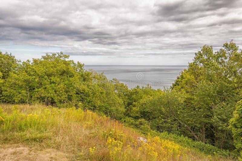 Stenshuvud havssikt arkivfoto