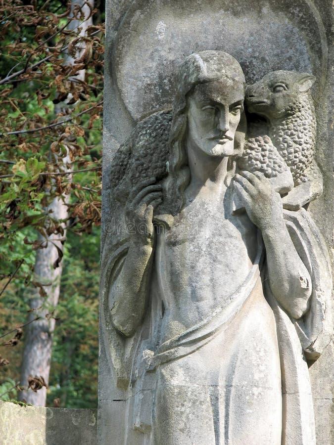 Stenskulptur av profeten royaltyfri foto