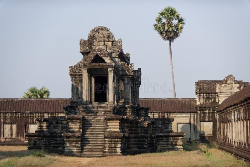 Stentempel på Angkor Wat, Cambodja royaltyfria bilder