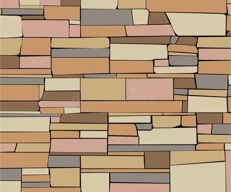 stenvägg stock illustrationer
