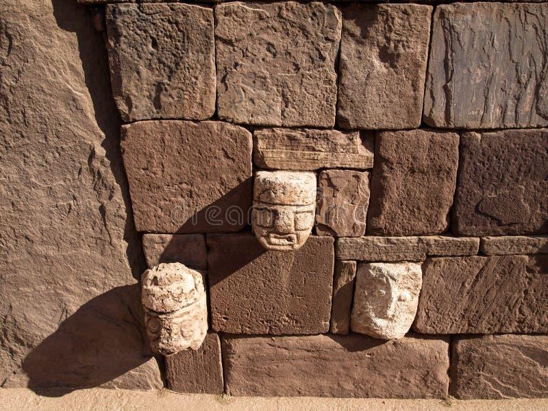 Stenvägg i forntida stad arkivfoton