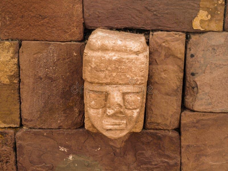 Stenvägg i forntida stad royaltyfri bild