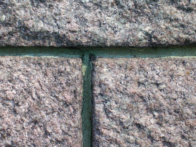 Stenvägg med polityrmortel royaltyfri fotografi
