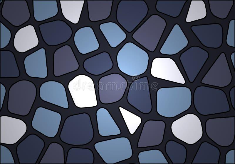 Stenvägg som göras av kullersten vektor illustrationer