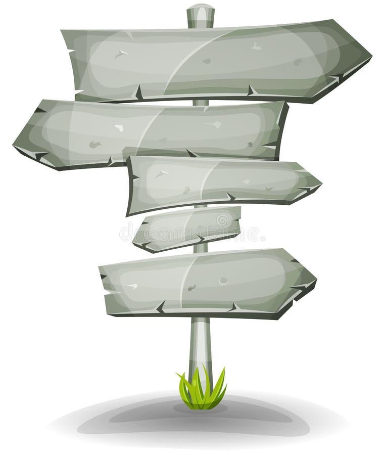 Stenvägmärkepilar vektor illustrationer