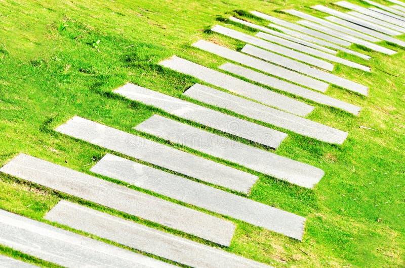 stenwalkway arkivfoton