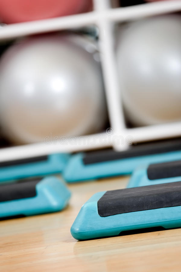 Download Step Boards And Gym Balloons Stock Photo - Image: 30587094