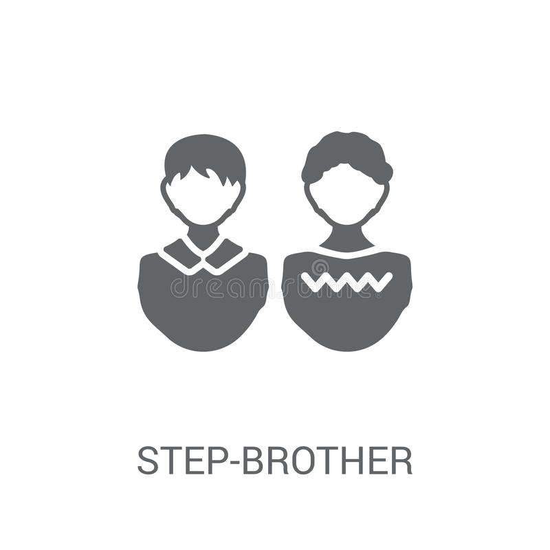 step-brother icon. Trendy step-brother logo concept on white background from Family Relations collection royalty free illustration