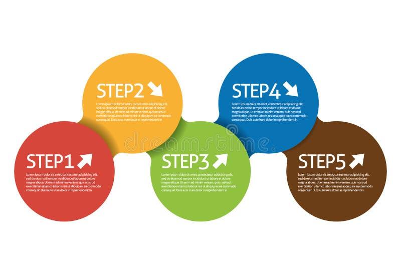 Step Circle stock illustration