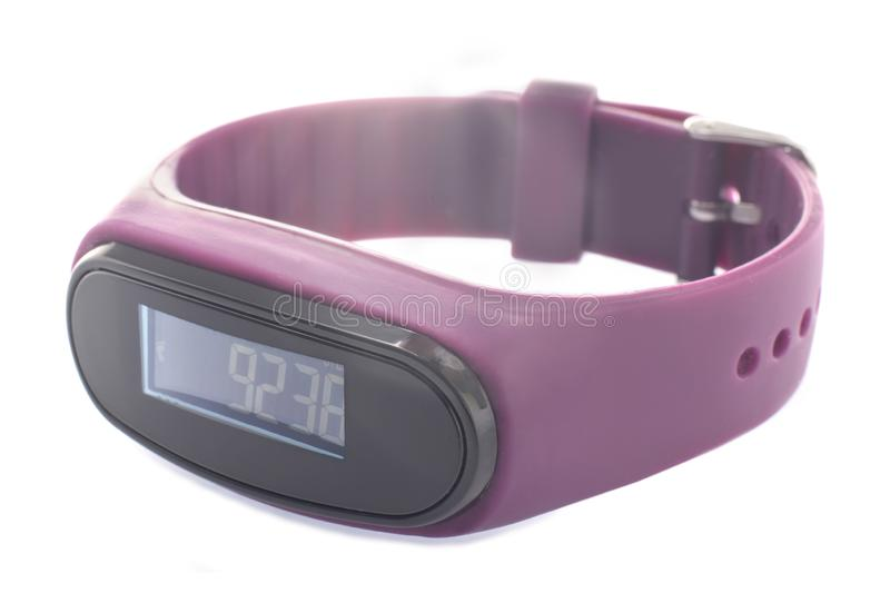 Step counter digital fitness tracker royalty free stock image
