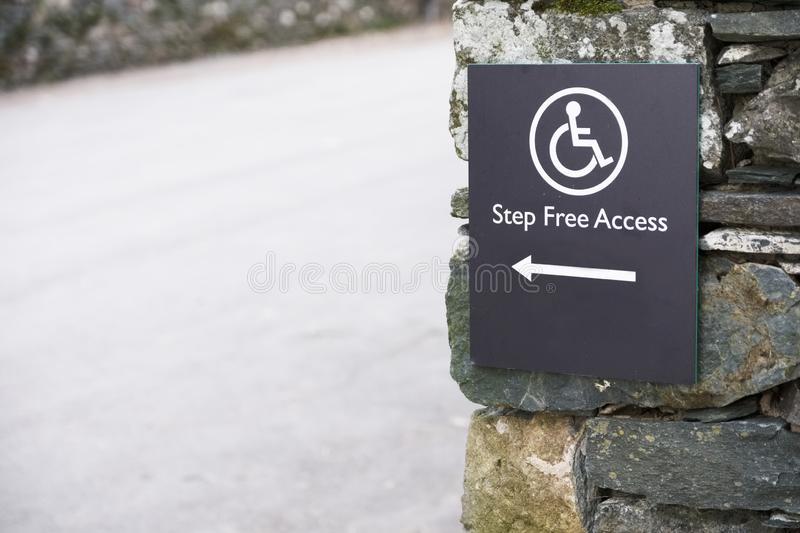 Step free access for disabled wheelchair user in rural countryside. Uk royalty free stock image