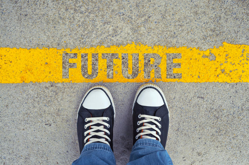 Step into the future. royalty free stock images