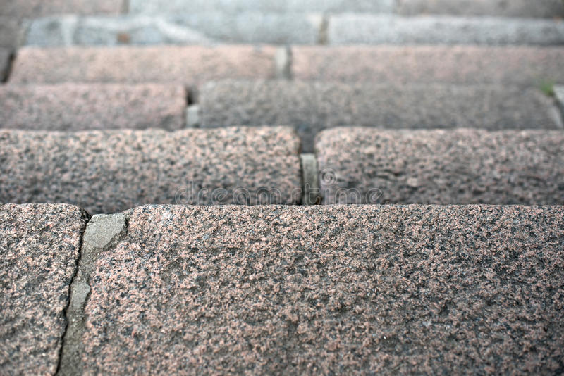 Step of a granite ladder royalty free stock images